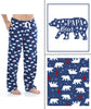SleepytimePjs Christmas Family Matching Blue Winter Snow Yeti Fleece Pajama Set