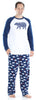 SleepytimePjs Christmas Family Matching Navy Bear Fleece Pajama Set for Men