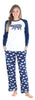 SleepytimePjs Christmas Family Matching Navy Bear Fleece Pajama Set for Women