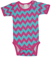 SleepytimePjs Infant Creeper in Chevron Blue & Pink