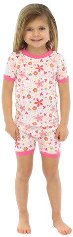 SleepytimePjs Kids Shorts & Tee Pajama Set in Floral