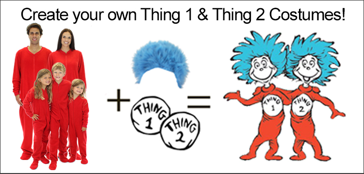 Create your own Thing 2 and Thing 2 Costumes