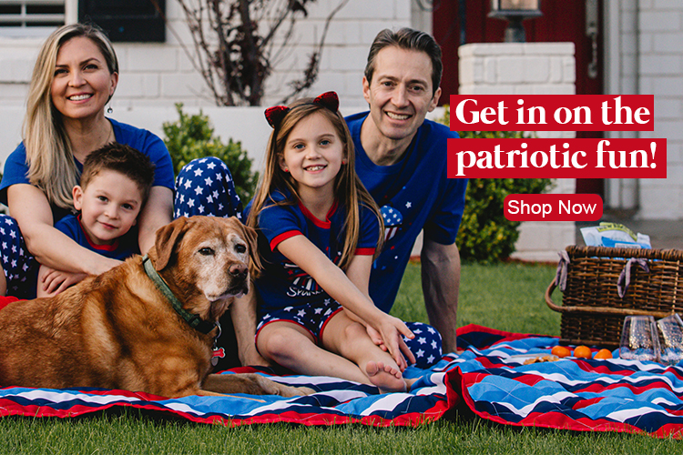Red, White & Blue Family Matching Pajamas