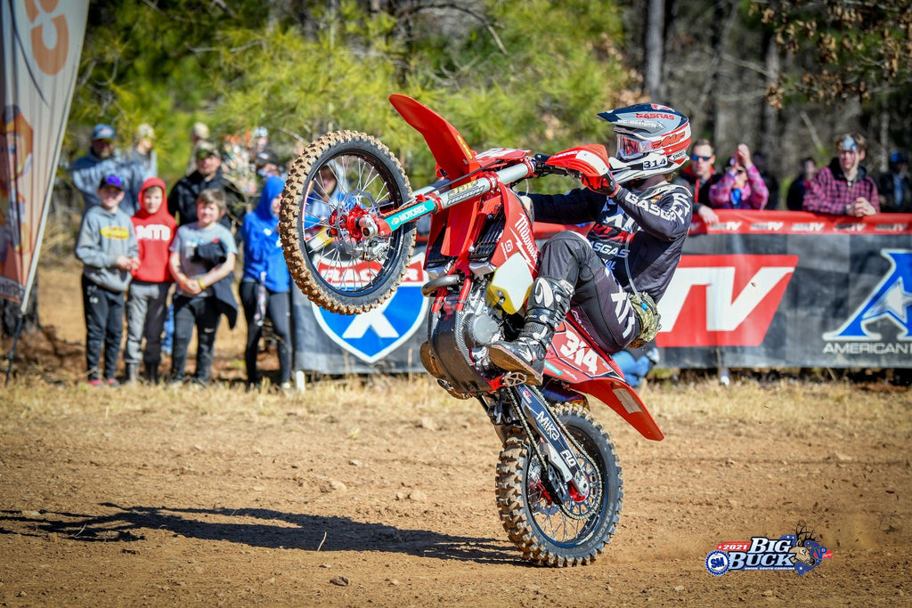 FLO MOTORSPORTS backed rider GRANT BAYLOR Earns Big Buck Overall Win!