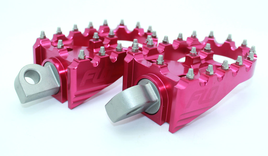 FLO MOTORSPORTS PINK FOOT PEGS – BREAST CANCER AWARENESS MONTH