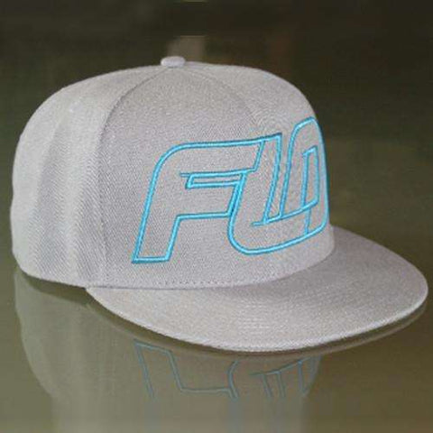 S/M Fitted Hat Blue/Gray Flo Motorsports