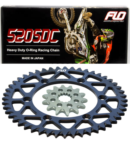 FLO MOTORSPORTS O-RING Sprocket Combo Kit KX250F