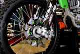 KAWASAKI KX250F/KX450F 270mm Front Brake Rot Spider Black / Green Rings Flo Motorsports