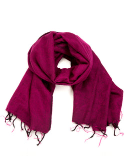 Brushed Woven Shawl in Hot Pink