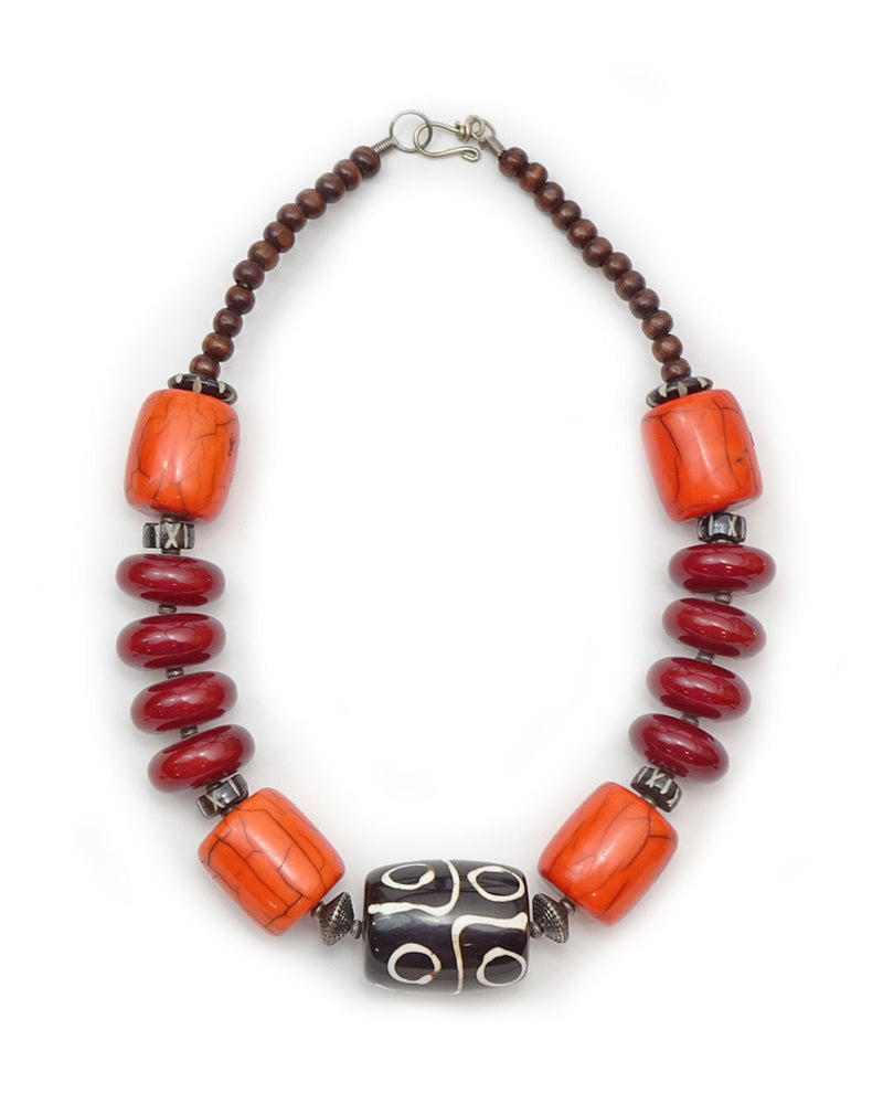 Large Dzi Bone Necklace