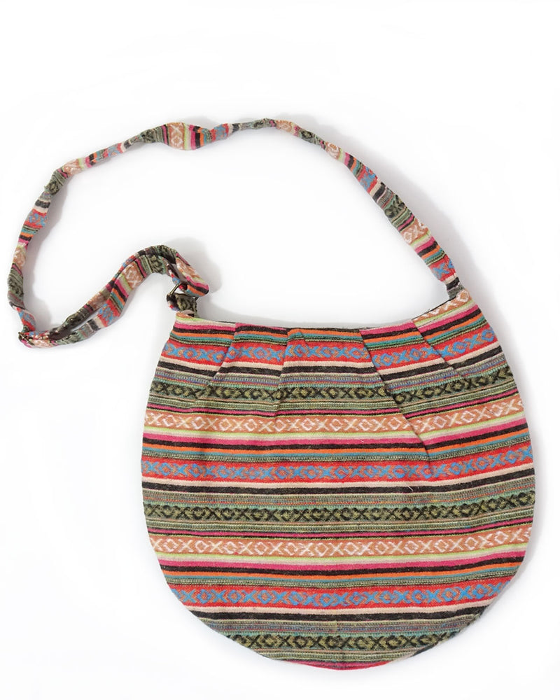 Brushed Cotton Gheri Shoulder Bag
