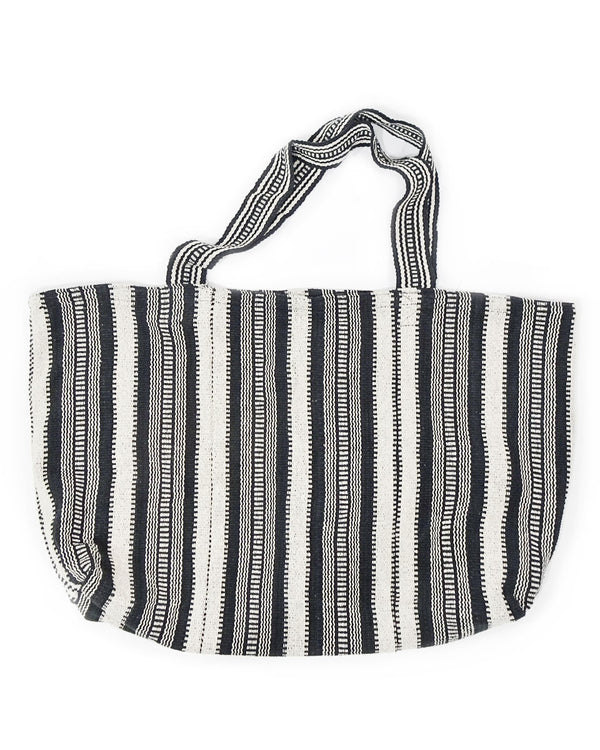 XL Striped Cotton Tote Bag