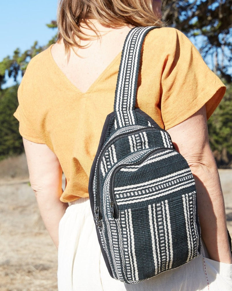 Cotton Sling Backpack