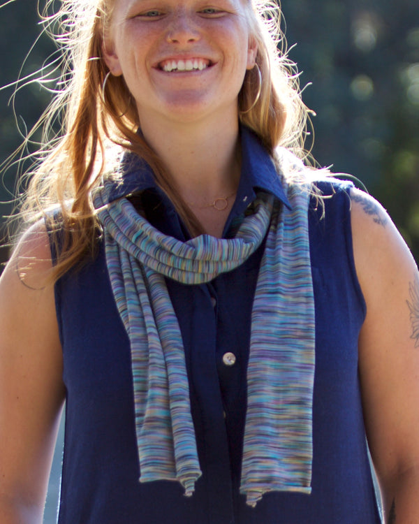 Organic Multi-Striped Scarf