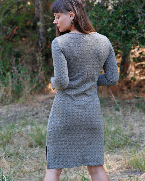 Organic Cotton Jacquard Pencil Dress