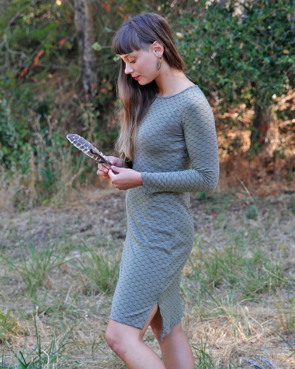 Organic Jacquard Pencil Dress