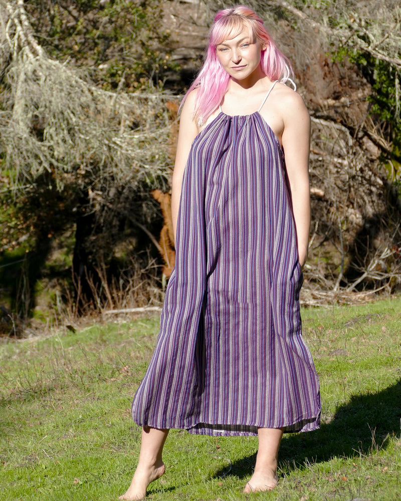 Striped Cotton Shift Dress