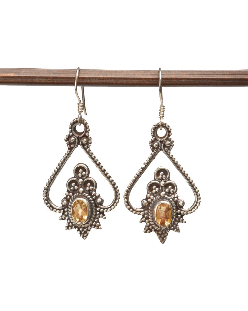 Paisley Earring with Stone