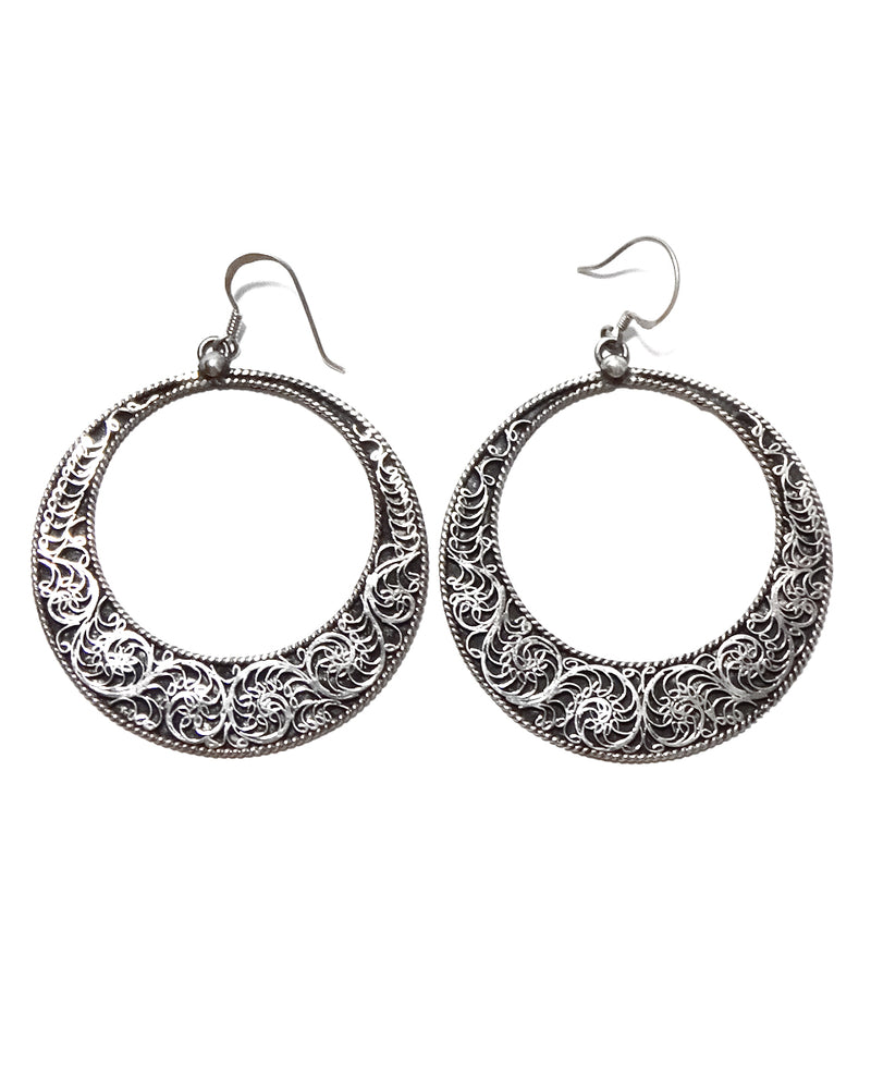 Filigree Earring - Large Hoop