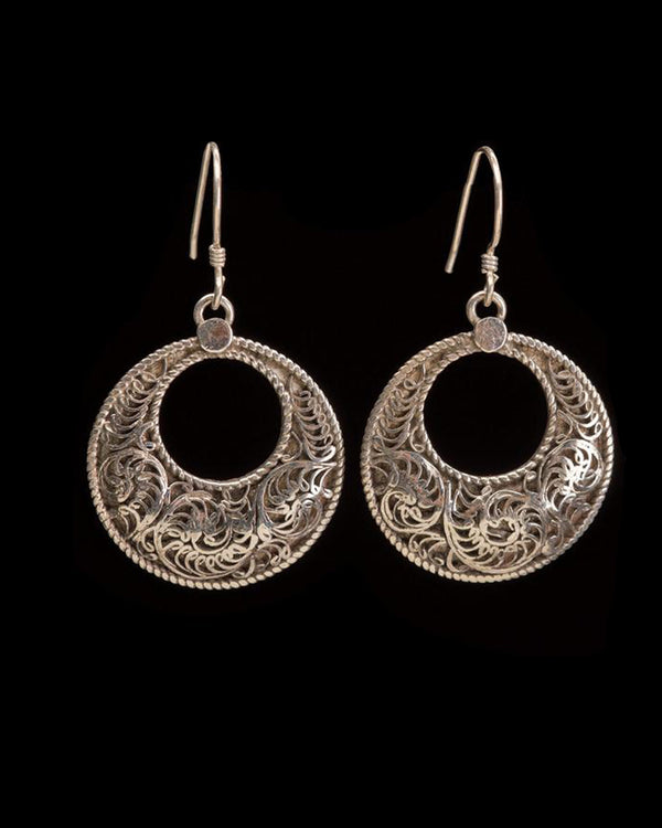 Half Moon Filigree Earring