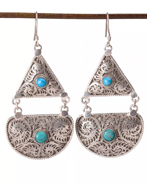 Half Moon Filigree Earrings