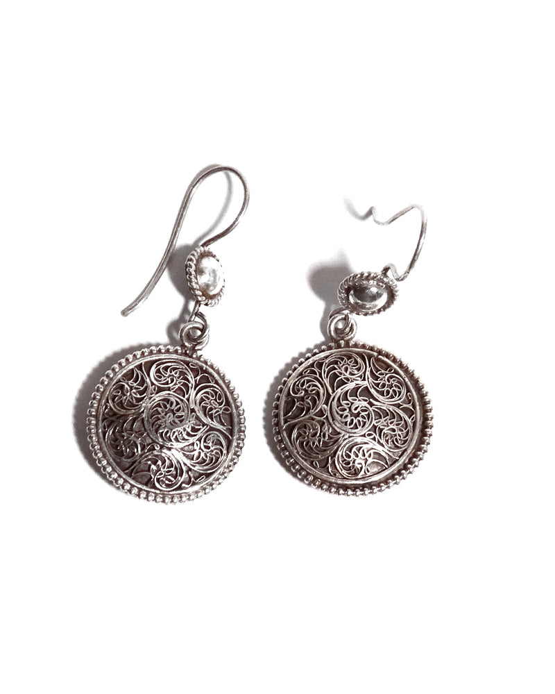 Filigree Earrings - Double Sided Rounds