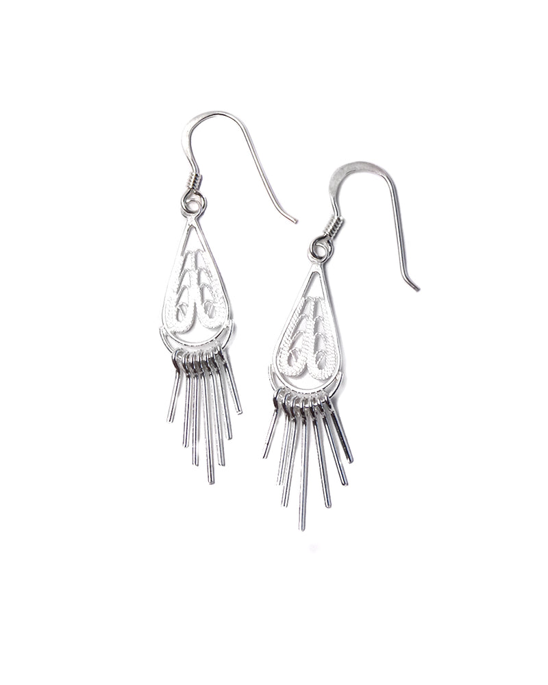 Filigree Earring - Small Tear Shape