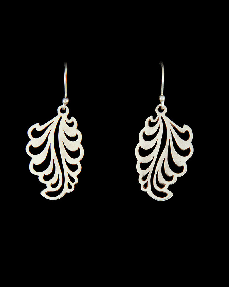 Silver Feather Earring