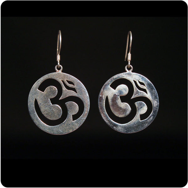 Om Cut Out Earring