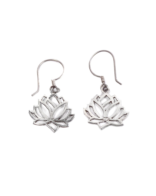Lotus Cut Out Earring