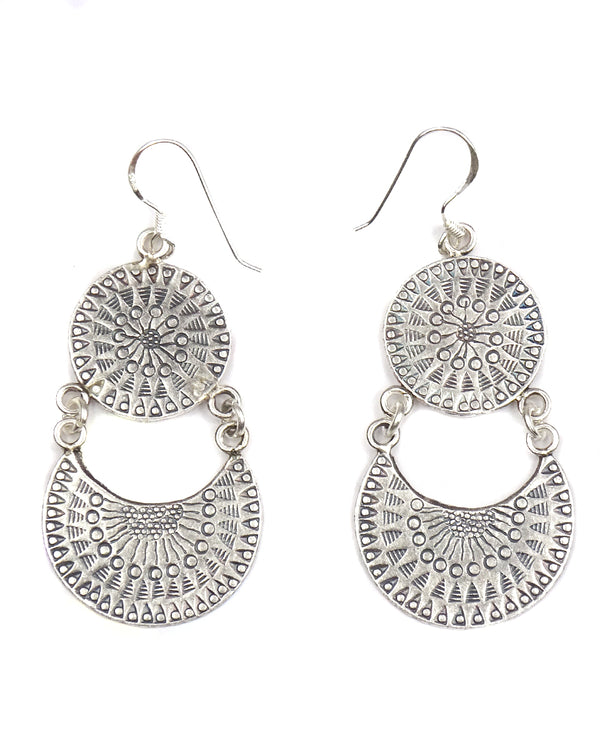 Tribal Link Mandala Earrings