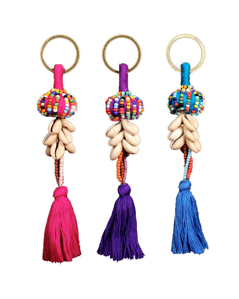 Beaded Ball Key Chain