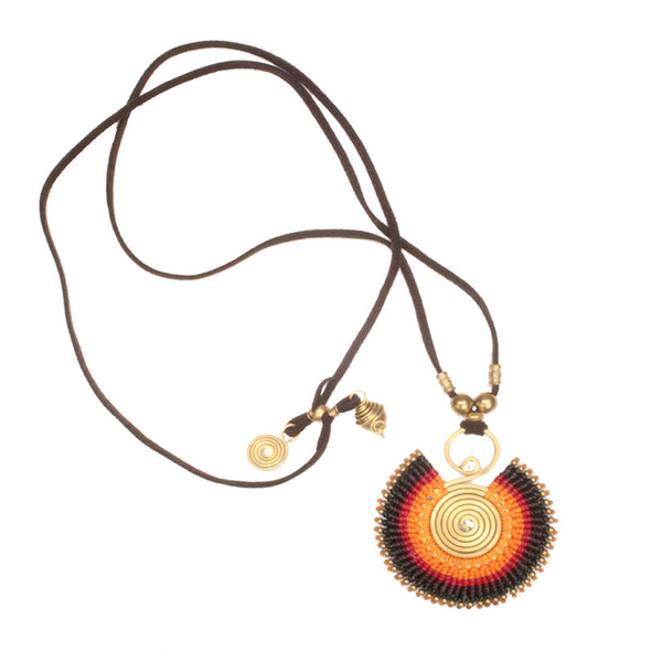 Waxed Cotton Sun Necklace
