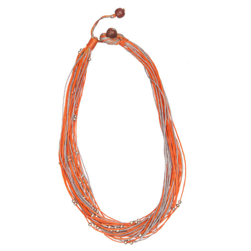 Two-Tone Waxed Cotton Necklace