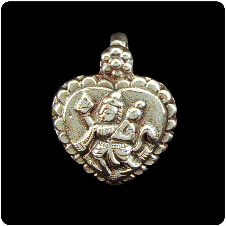 Small Hanuman Heart Pendant