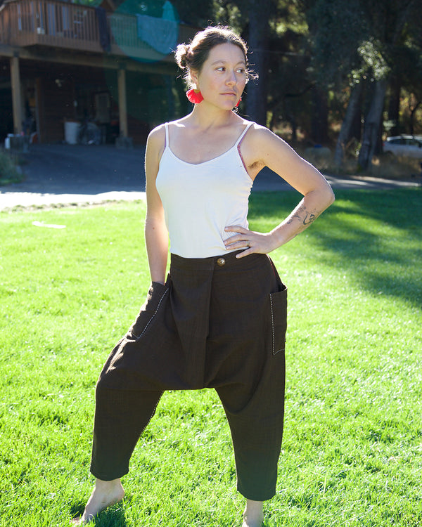 Line Stitch Tribal Harem Pants