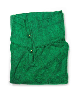 Brushed Woven Poncho in Emerald