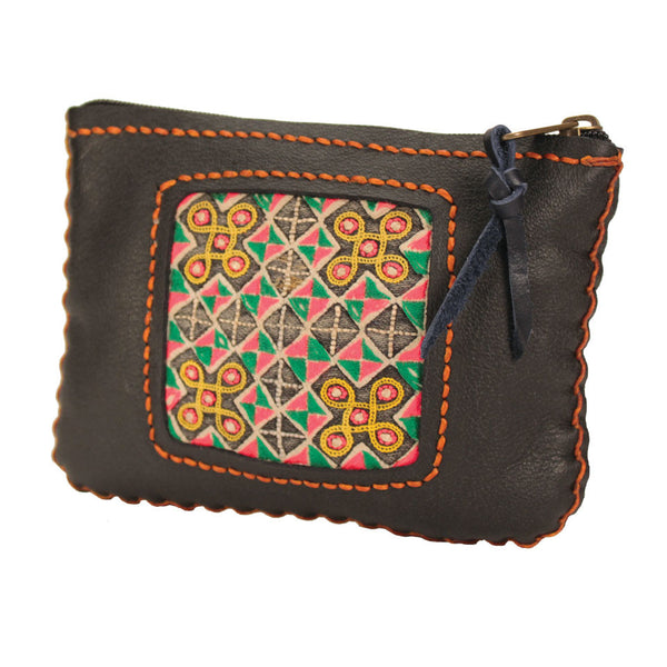 Leather Hmong Pouch