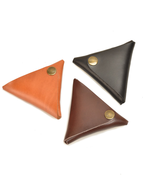 Leather Triangle Pouch