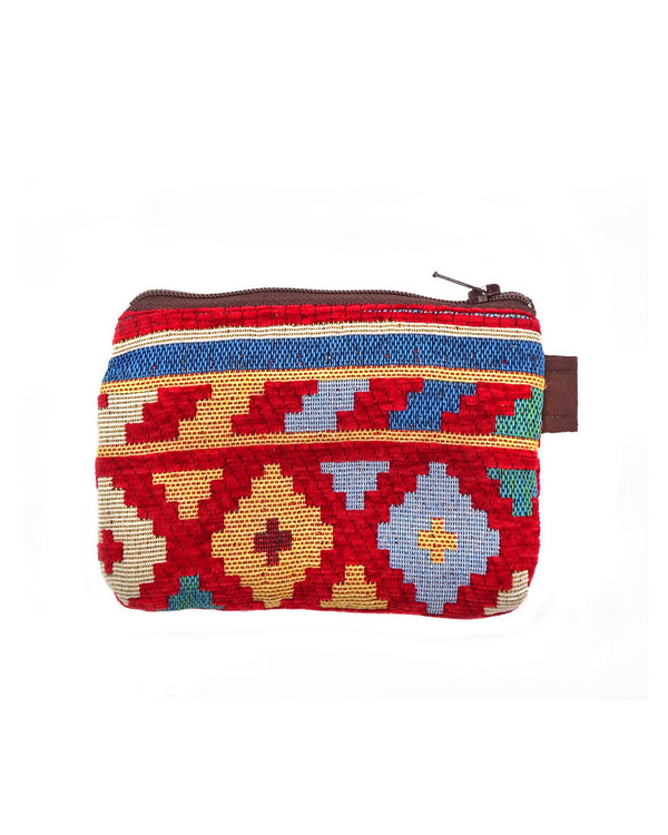 Geometric Cotton Pouch
