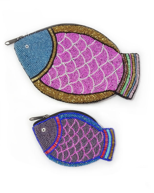 Beaded Fish Pouch