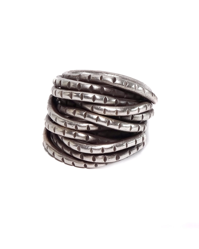Heavy Stacked Rope Ring