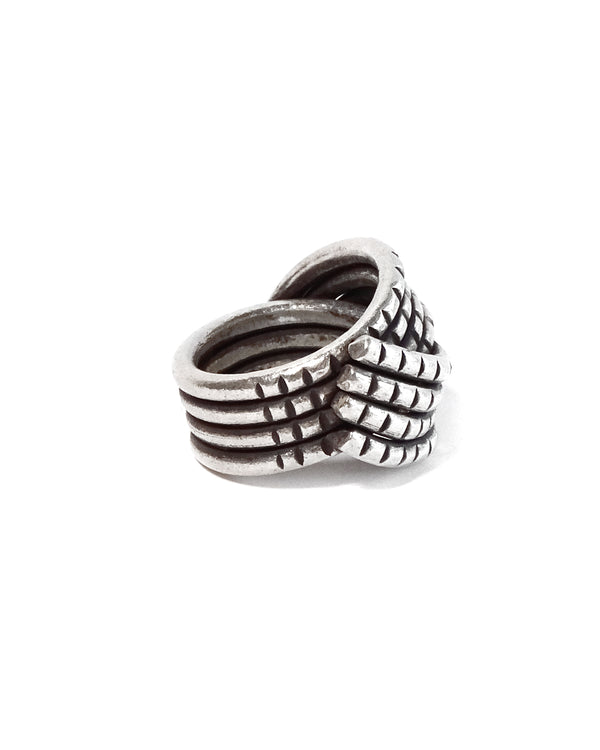 Tribal Rope Wave Ring