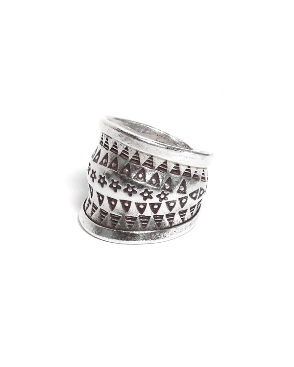 Tribal Stamped Band Ring