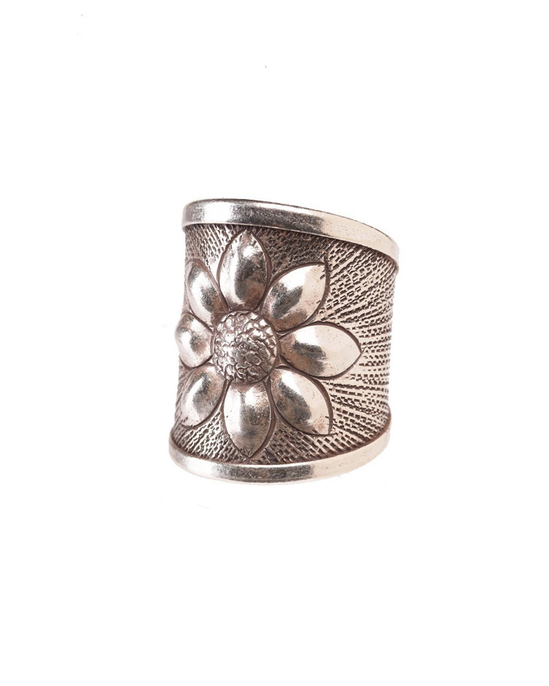 Tribal Ring with Flower