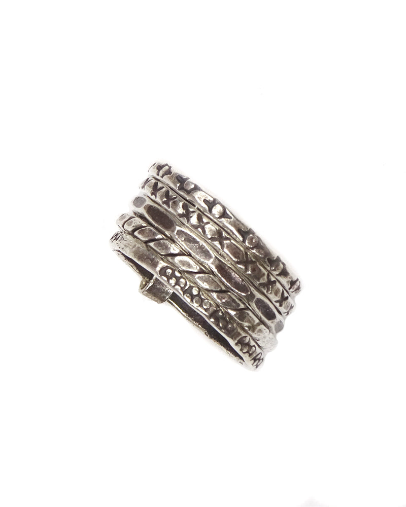 Tribal Stamped Stacking Ring