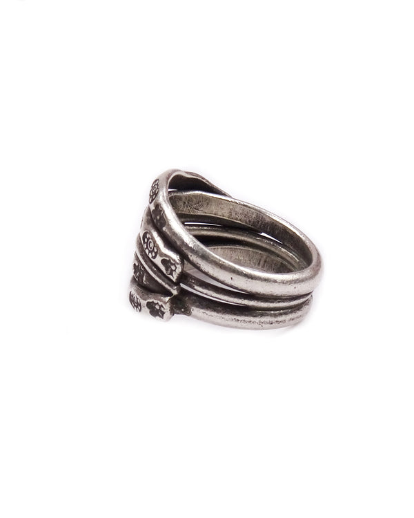 Layered Stack Tribal Ring