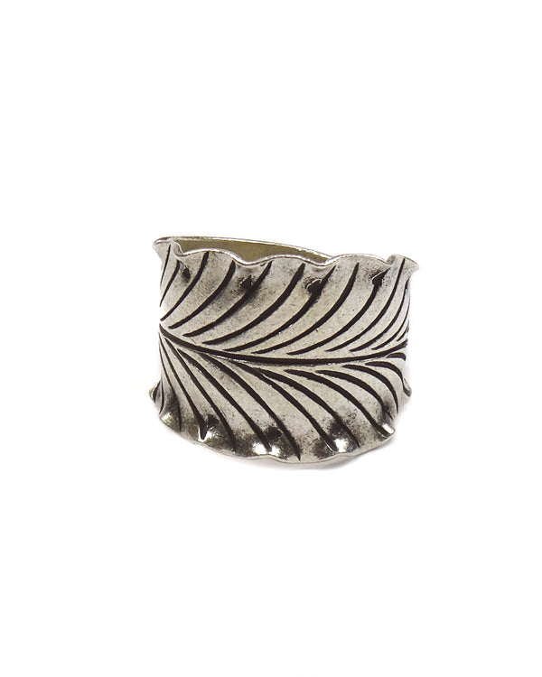 Tribal Leaf Ring