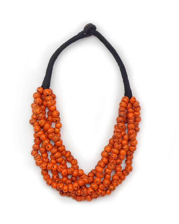 5-Strand Village Coral Necklace