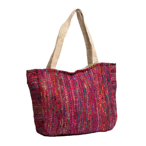 Silk and Hemp Tote Bag